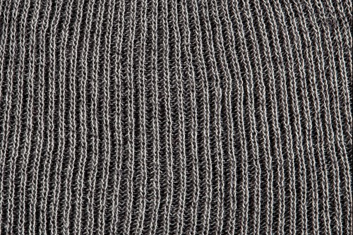Heathered yarn option charcoal and steel