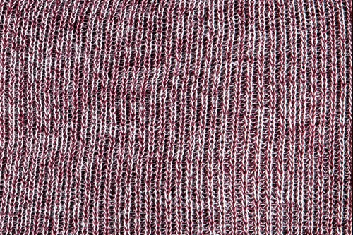 Heathered yarn option maroon and white