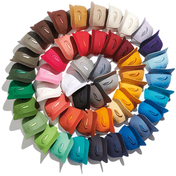 A color wheel of cotton twill Pukka hat