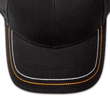 Pukka hat, visor stitching, 4 rows, 2 thick stitch, 2 color