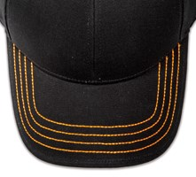 Pukka hat, visor stitching, 4 rows, 4 thick stitch, 1 color