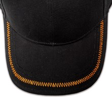 Pukka hat, visor stitching, 4 rows, zig-zag stitch, 1 color