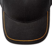 Pukka hat, visor stitching, 8 rows, 1 thick hand stitch, 1 color