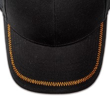 Pukka hat, visor stitching, 8 rows, zig-zag stitch, 1 color
